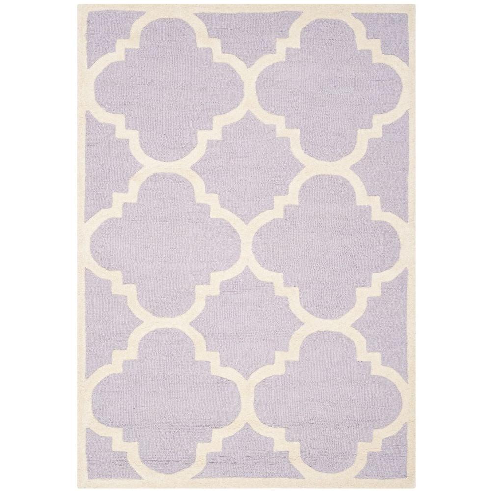 Cambridge Lavender/Ivory 3 ft. x 5 ft. Area Rug