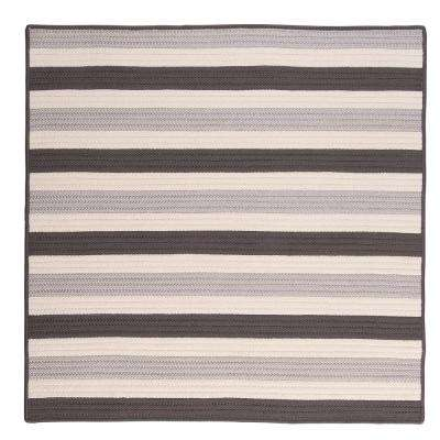 Baxter Silver 12 ft. x 12 ft. Square Indoor/Outdoor Braided Area Rug