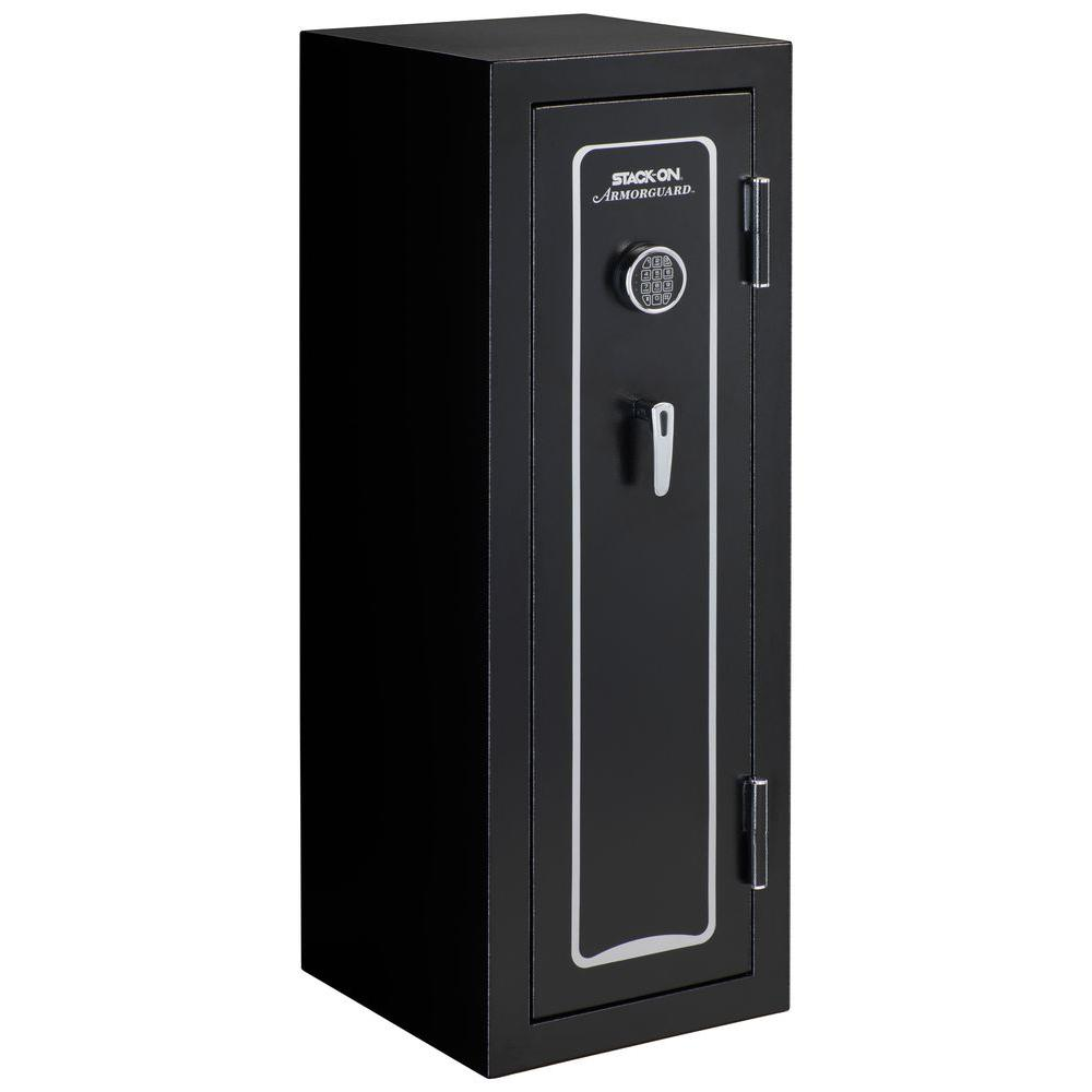 Armorguard 18 Gun Fire Rated Safe With Electronic Lock And Door Storage,  Black