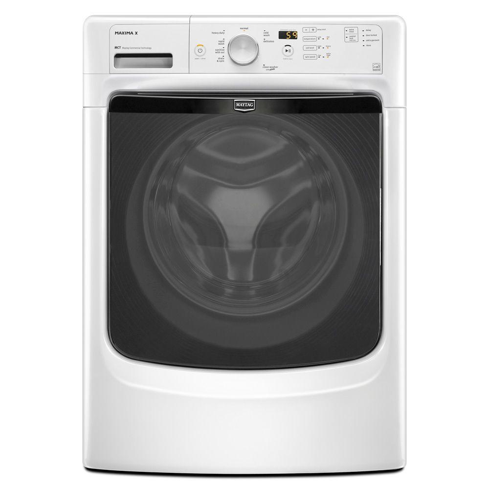 Maytag Maxima X 4.1 cu. ft. High-Efficiency Front Load Washer in White, ENERGY STAR-DISCONTINUED