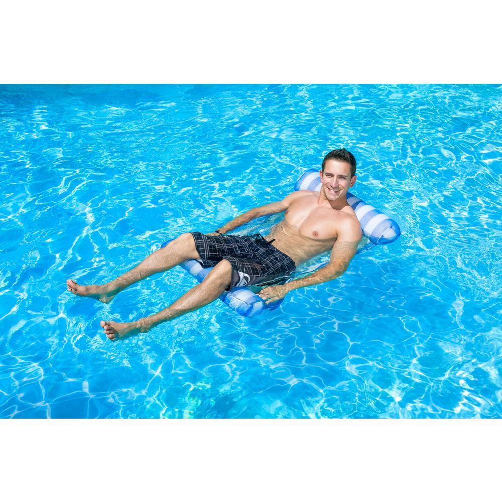 Poolmaster Blue Water Hammock Swimming Pool Float Lounge