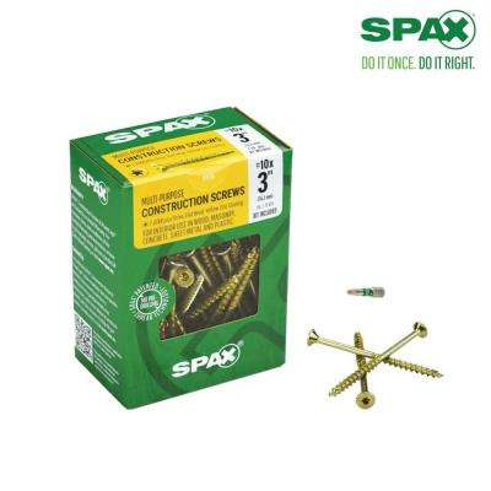 #10 x 3 in. T-Star Drive Flat-Head Partial Thread Yellow Zinc Coated Multi-Material Screw (72 per Box)