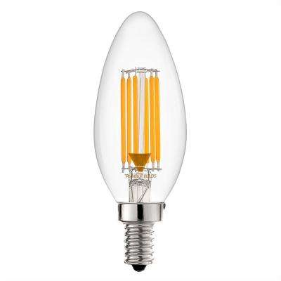 60-Watt Equivalent B11 Dimmable Clear Torpedo Filament LED Light Bulb Warm White