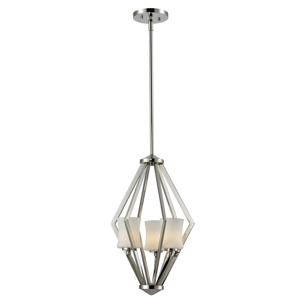 Filament Design Lawrence 3-Light Chrome Halogen Ceiling Pendant