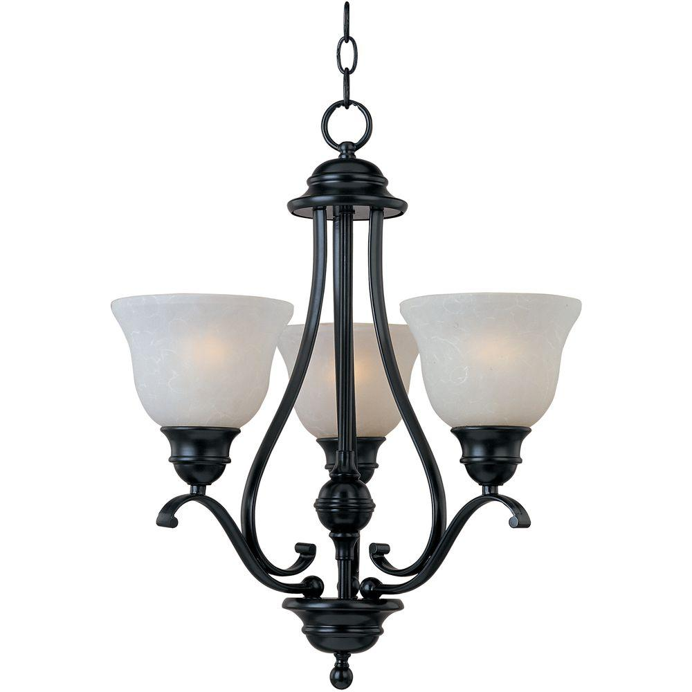 Linda 3-Light Black Mini Chandelier