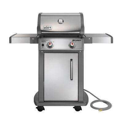 Spirit S-210 2-Burner Natural Gas Grill in Stainless Steel with Built-In Thermometer
