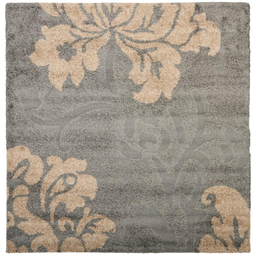 Safavieh Florida Gray Beige 7 Ft X Square Area Rug