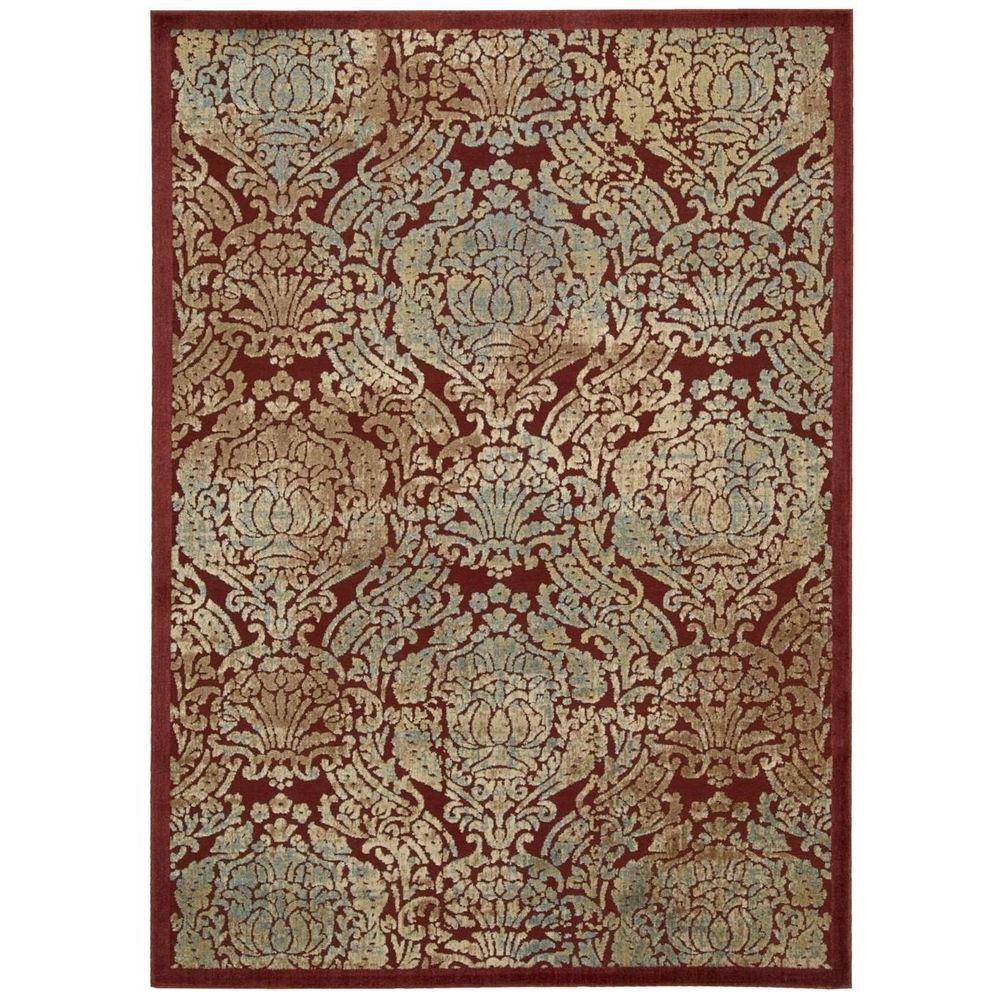 Graphic Illusions Red 3 ft. 6 in. x 5 ft. 6 in. Area Rug