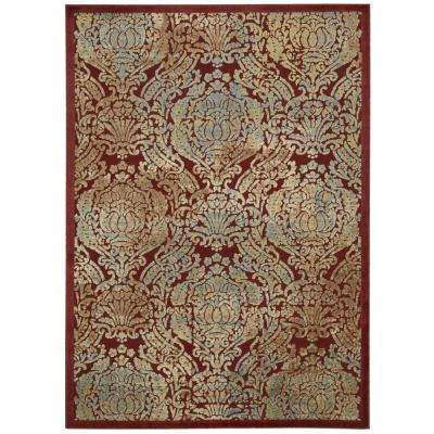 Graphic Illusions Red 4 ft. x 6 ft. Area Rug