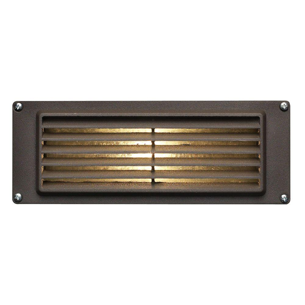 7.75 in. 3.8-Watt LED Bronze Step and Stair Deck Light