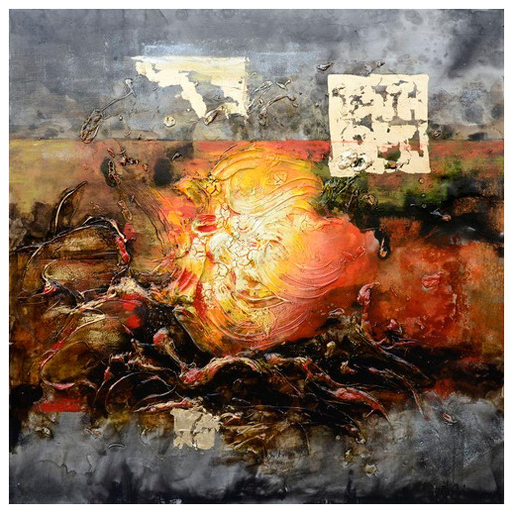 Yosemite Home Decor 59 in. x 59 in. Eruption I Hand Painted Contemporary Artwork-DISCONTINUED
