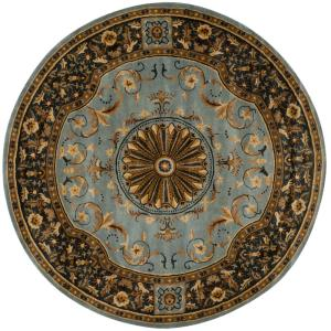 Empire Blue 8 ft. x 8 ft. Round Area Rug