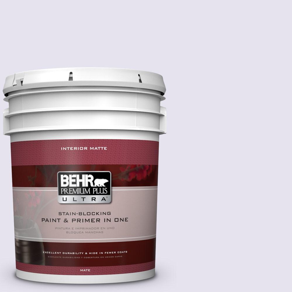 5 gal. #640A-1 Soft Iris Flat/Matte Interior Paint