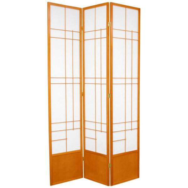 7 ft. Honey 3-Panel Room Divider