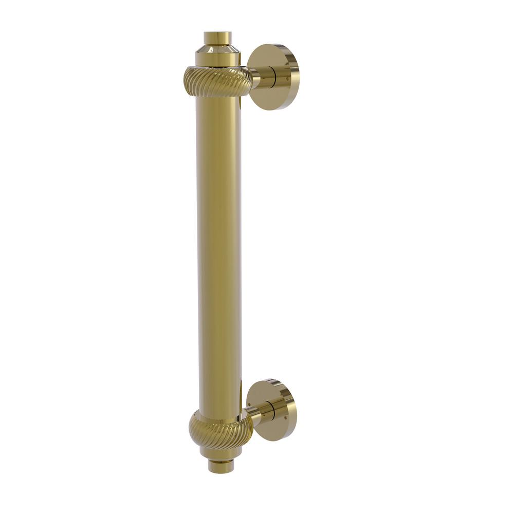 Allied Brass 8 in. Center-to-Center Door Pull with Twisted Aents in Unlacquered Brass