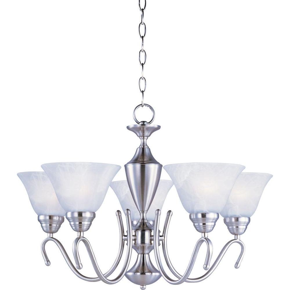 Newport 5-Light Satin Nickel Single-Tier Chandelier