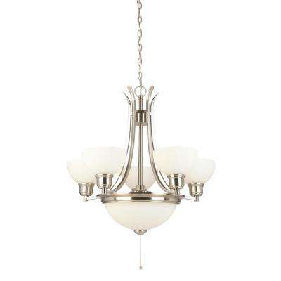 Marielle 7-Light Brushed Nickel Chandelier