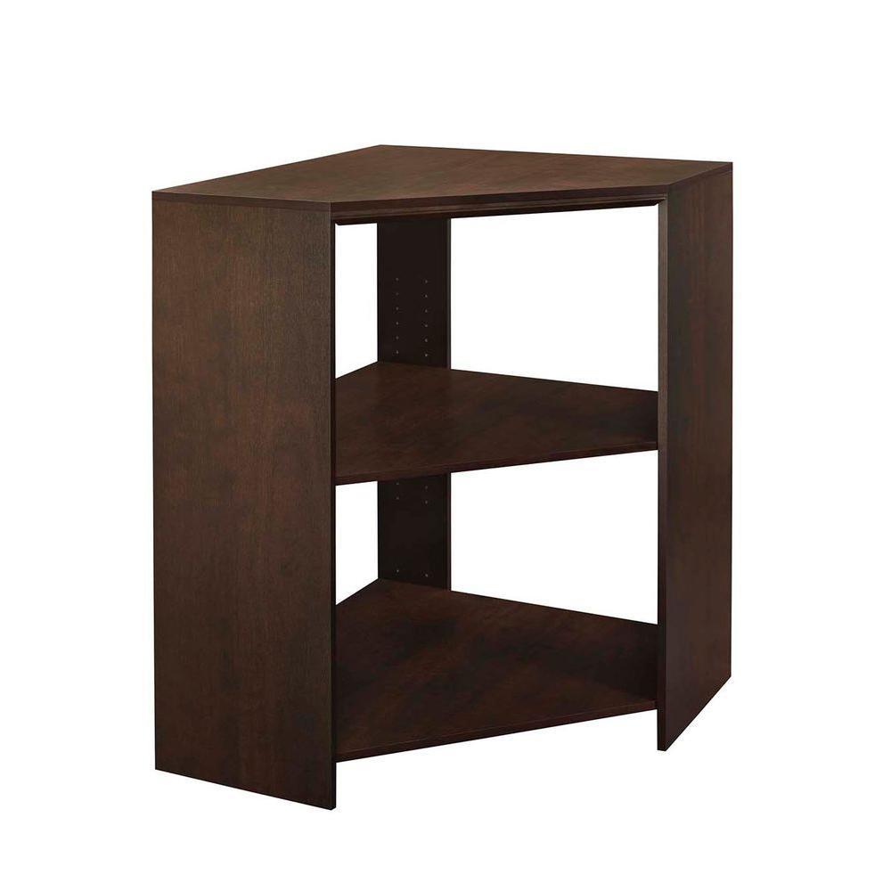 Impressions 28.7 in. x 28.7 in. x 41.1 in. Chocolate Wood Corner Unit