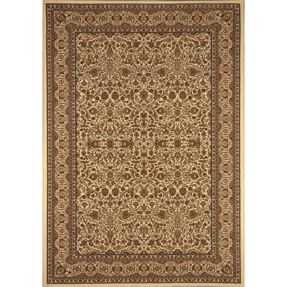 Home Dynamix Super Kashan Ivory 2 ft. 7 in. x Your Choice Length Finished Roll Runner
