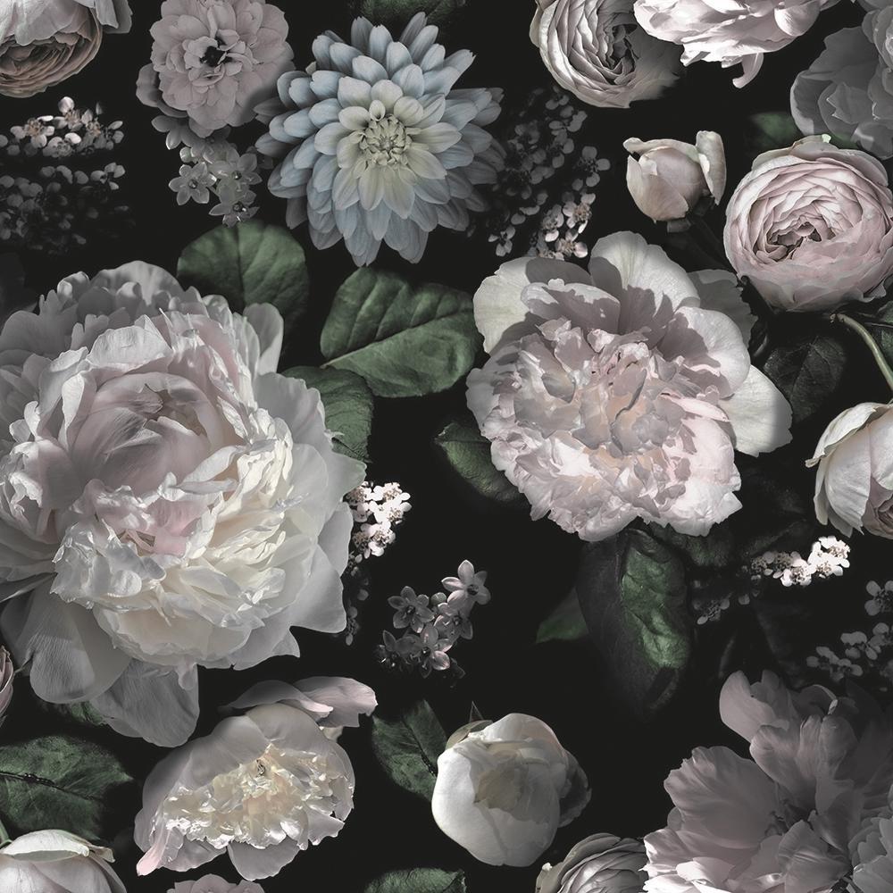 Tempaper Moody Floral Peel And Stick Wallpaper 60 Sq Ft Te573