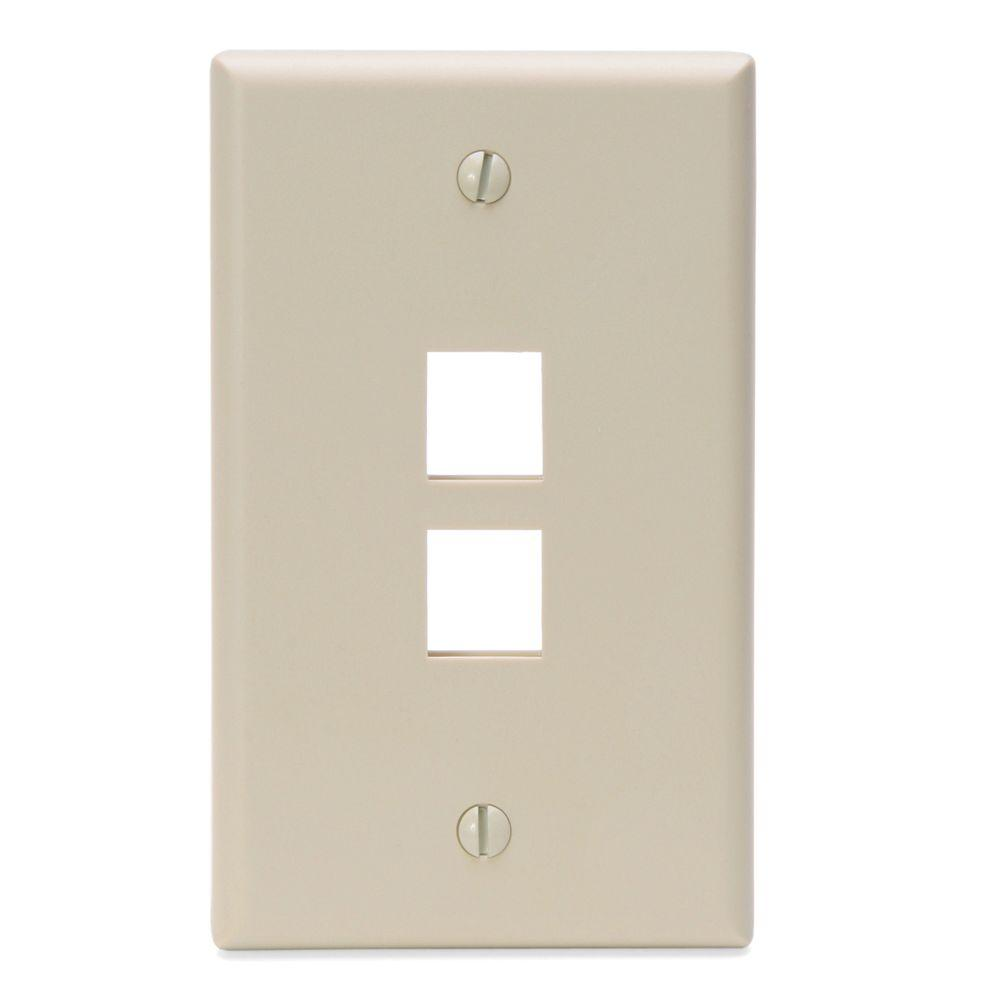 Leviton QuickPort 2 Port Midway Wall Plate