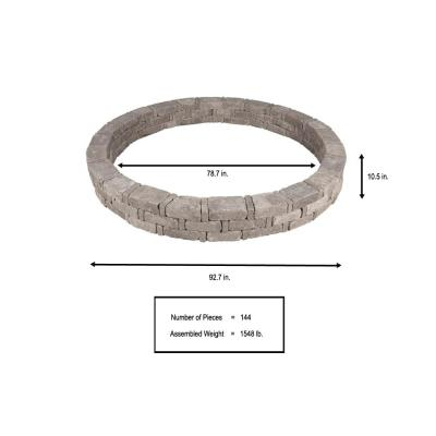 RumbleStone 93 in. x 10.5 in. Tree Ring Kit in Greystone
