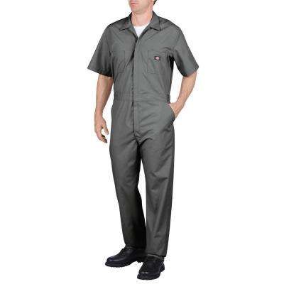 Men's X-Large Gray Short Sleeve Coverall