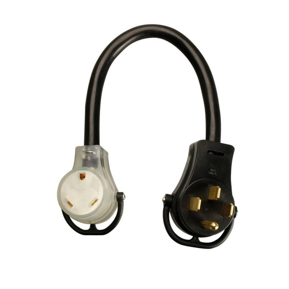 50 Amp Rv Outlet Southwire 15 Ft 10 3 Stw To 30 Power Adapter Extension Cord With Light Plug 95549008 The Home Depot