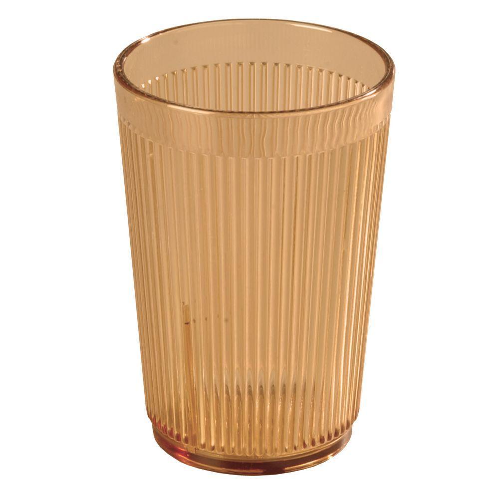 16 oz. SAN Plastic Tumbler in Amber (Case of 48)