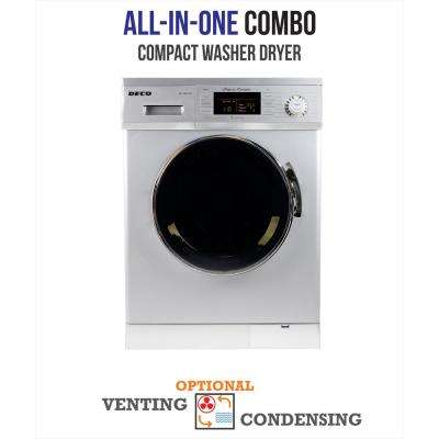 All-in-one 1200 RPM Compact Combo Washer Dryer with Optional Condensing/Venting and Sensor Dry in Silver