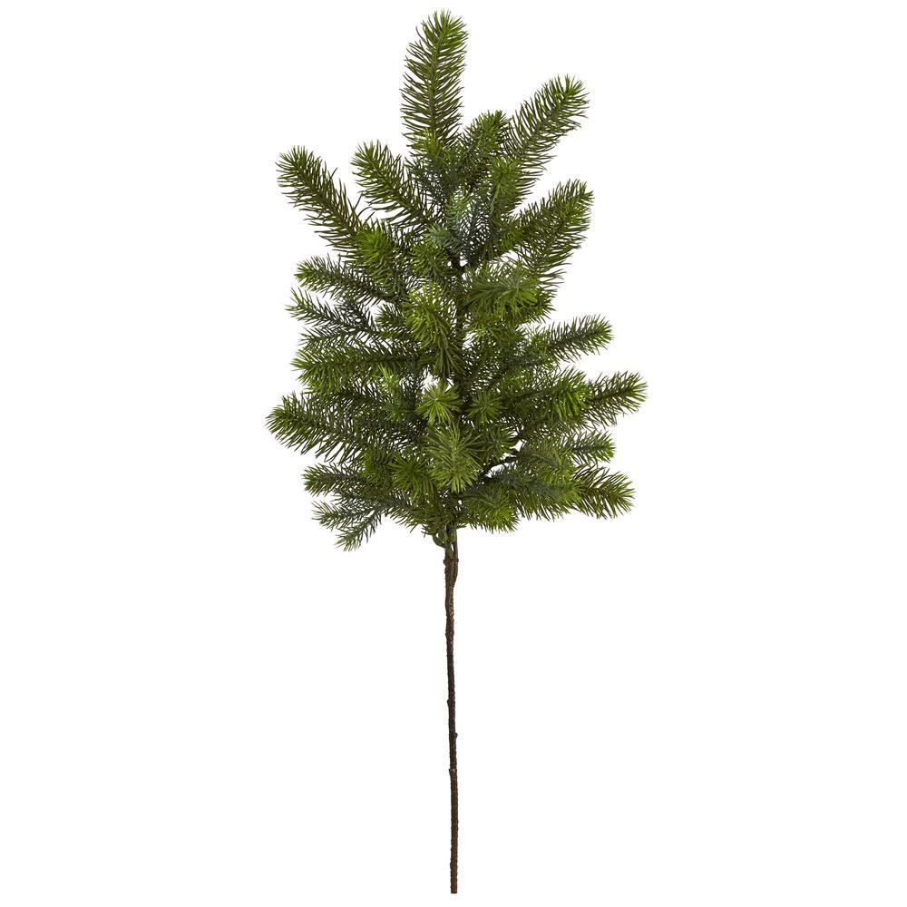 36 in. Unlit Pine Artificial Stem (Set of 4)