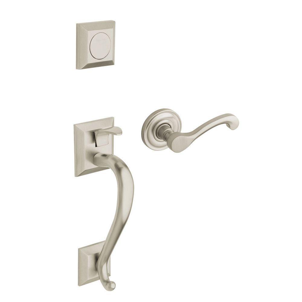Madison Satin Nickel Left-Handed Full-Dummy Door Handleset