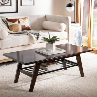 Seth 2-Tier Dark Walnut Coffee Table