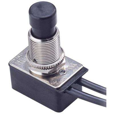10-Amp Single-Pole Maintained Contact Push-Button Switch, Black (1-Pack)