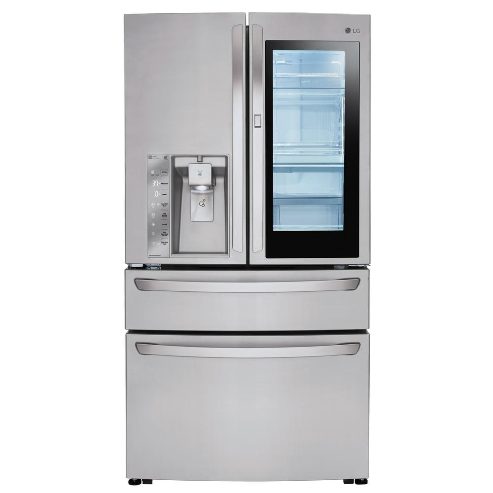 4-Door French Door Refrigerator with InstaView Door-in-Door in Black  Stainless Steel-LMXS30796D - The Home Depot