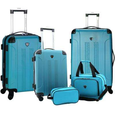 5-Piece Hardside Rolling Vertical Luggage Collection with Bonus 14 in. Tote and 10 in. Travel Kit