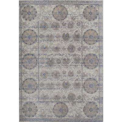 Barbara Gray Ivory Gray 4  ft. 0 in. x 5  ft. 7 in. Rectangular Area Rug
