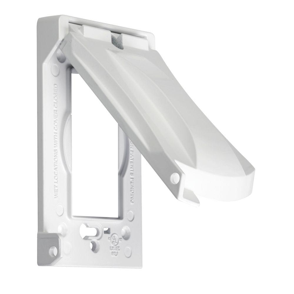 TAYMAC 1-Gang Horizontal or Vertical Weatherproof Universal Device Flip Lid Covers