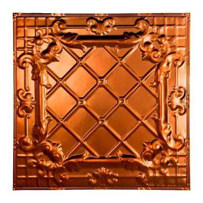 Toledo 2 ft. x 2 ft. Nail-up Tin Ceiling Tile in Copper