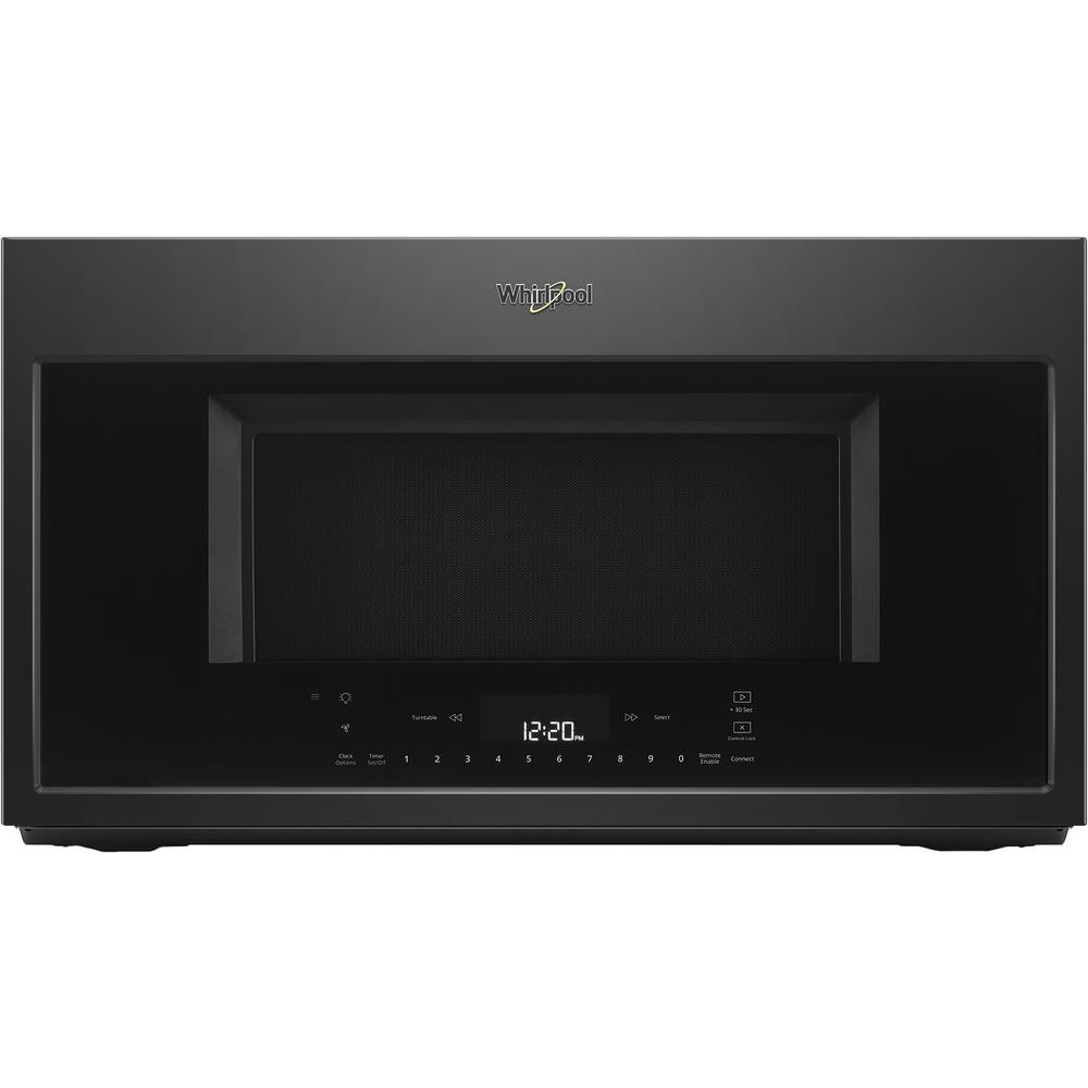Whirlpool 1.9 cu. ft. Smart Over the Range Convection Microwave in Black with Scan-to-Cook Technology