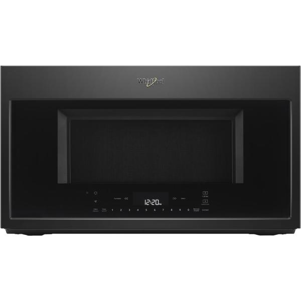 1.9 cu. ft. Smart Over the Range Convection Microwave in Black with Scan-to-Cook Technology