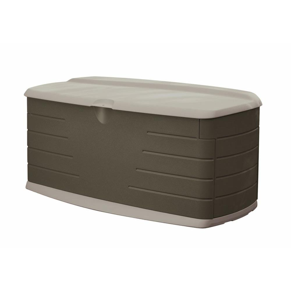 Rubbermaid 90 Gal Large Resin Deck Box With Seat