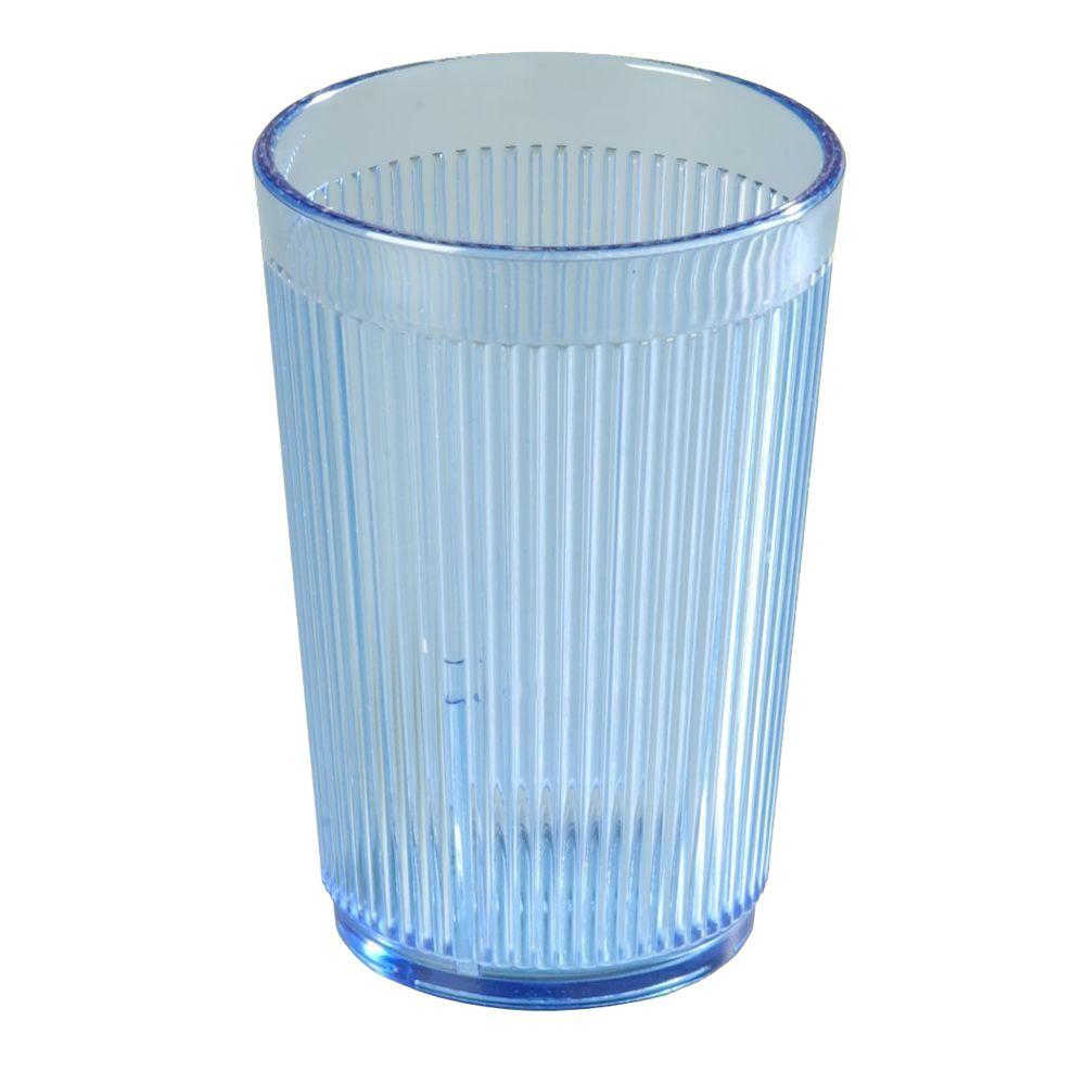 9.5 oz. SAN Plastic Tumbler in Blue (Case of 48)