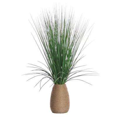 22 in. x 22 in. x 29 in. Tall Grass with Twigs in Hemp Rope Container