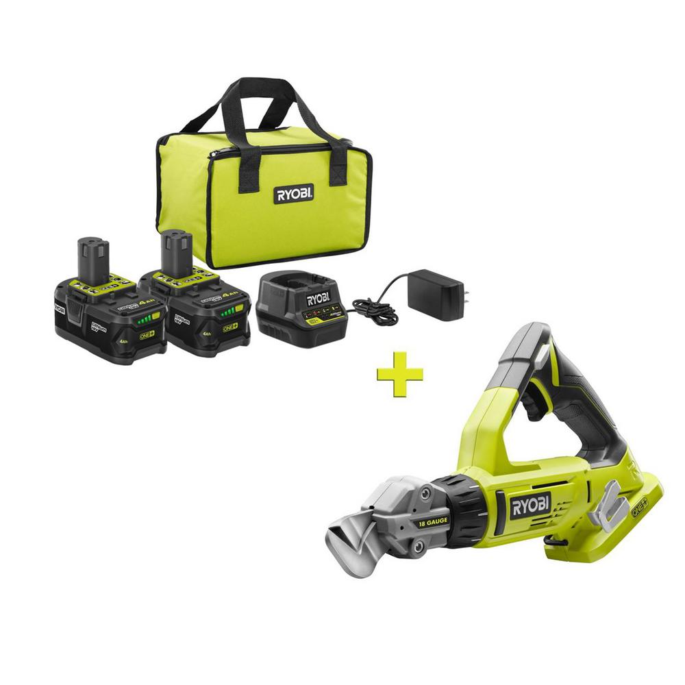 RYOBI 18-Volt ONE+ High Capacity 4.0 Ah Battery (2-Pack) Starter Kit with Charger and Bag with FREE ONE+ Shears was $301.0 now $99.0 (67.0% off)