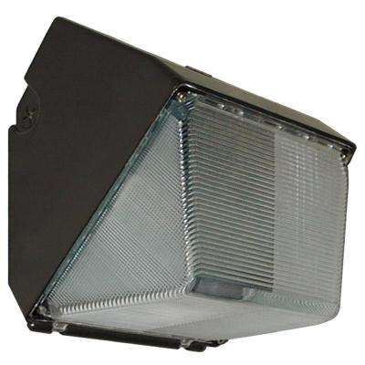 23-Watt Bronze Integrated LED Outdoor Small Wall Pack Light with Polycarbonate Lens
