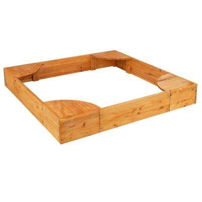 58-4/5 in. x 58-4/5 in. x 8.38 in. Backyard Square Sandbox