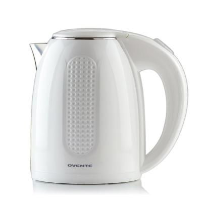 7-Cup White Stainless Steel BPA-Free Electric Kettle with Auto Shut-Off and Boil-Dry Protection