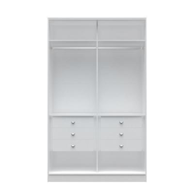 Chelsea 1.0 - 54.33 in. W White He/ She Wardrobe with 6-Drawers
