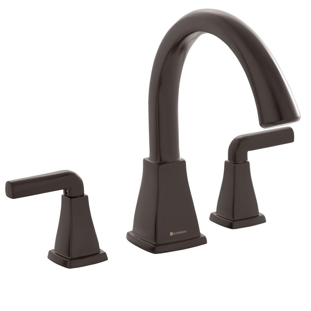 Brookglen 2-Handle Deck-Mount Roman Tub Faucet in Bronze